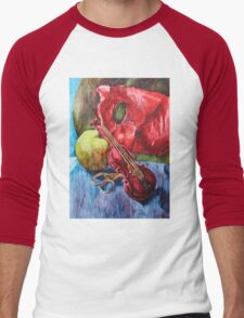 'Cutting Strings' Painting by Rebecca Men's Baseball ¾ T-Shirt