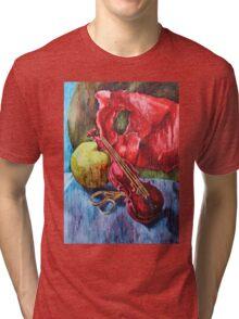 'Cutting Strings' Painting by Rebecca Tri-blend T-Shirt