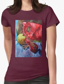 'Cutting Strings' Painting by Rebecca Womens Fitted T-Shirt