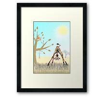 Boo! Says Olympia the Giraffe Framed Print