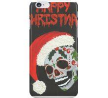 Sugar Skull- Happy Christmas iPhone Case/Skin