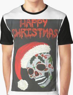 Sugar Skull- Happy Christmas Graphic T-Shirt