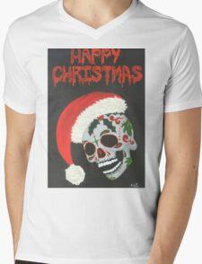 Sugar Skull- Happy Christmas Mens V-Neck T-Shirt