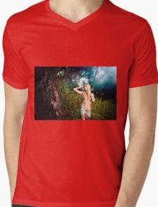 Nude Women Sexy - Sensual - Tattoo Mens V-Neck T-Shirt