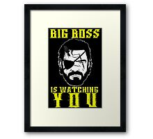 He's watching you Framed Print