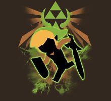 Super Smash Bros. Light Green/Brown Toon Link Silhouette Unisex T-Shirt