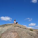 UFO, Me on top of Giant Rocks, Giraween Park ,QLD by MardiGCalero