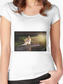 Nude Women Sexy - Sensual Women's Fitted Scoop T-Shirt