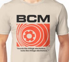 Bedroom Cassette Masters Big Logo & Strapline (black) Unisex T-Shirt