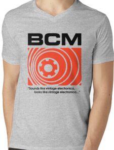 Bedroom Cassette Masters Big Logo & Strapline (black) Mens V-Neck T-Shirt