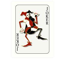 Joker Card Print Art Print