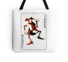 Joker Card Print Tote Bag