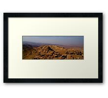 Wadi Araba from Jordan Framed Print