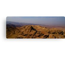 Wadi Araba from Jordan Canvas Print