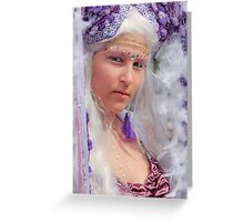 Princess Purple Greeting Card
