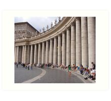 BERNINIS COLONNADE Art Print