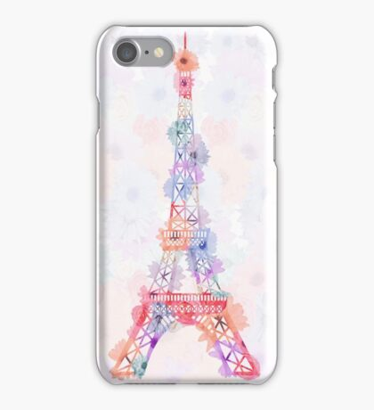 Flower Eiffel Tower Paris iPhone Case/Skin