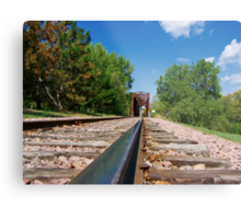 Lonesome Rails Metal Print