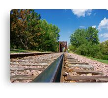 Lonesome Rails Canvas Print