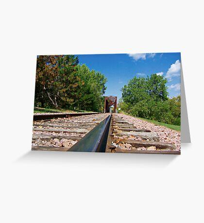 Lonesome Rails Greeting Card