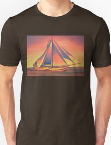 Sienna Sails at Sunset Unisex T-Shirt