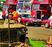 Retro vintage vehicles Sticker