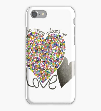 The Many colours of Love iPhone Case/Skin