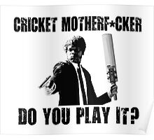 Rude Funny Cricket Shirt Poster