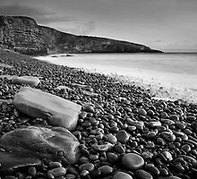 Dunraven Bay 011 - Black and White by Paul Croxford