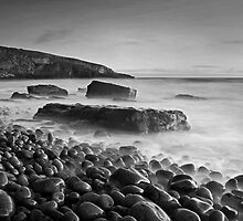 Dunraven Bay 012 - Black and White by Paul Croxford