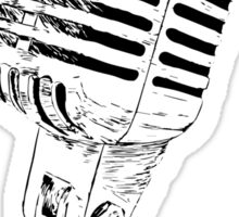 retro mic Sticker