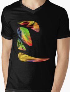 Zen Rainbow Mens V-Neck T-Shirt