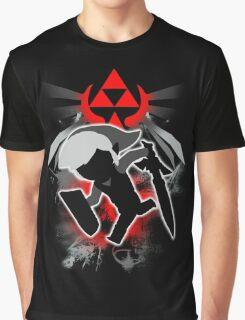 Super Smash Bros. Black Toon Link Silhouette Graphic T-Shirt