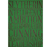 Slytherin (Harry Potter) Photographic Print