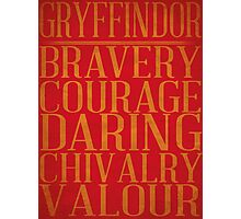 Gryffindor (Harry Potter) Photographic Print