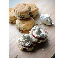 Scones, Jam and Cream Anyone? Photographic Print