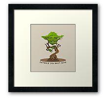 Bonsai Yoda Framed Print