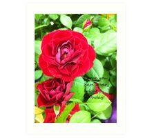 Red Blossum Art Print