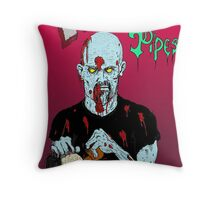 Zombie Pipe Cleaner! Throw Pillow