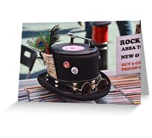 Hats Off- One Cool Hat  For One Cool Cat Greeting Card