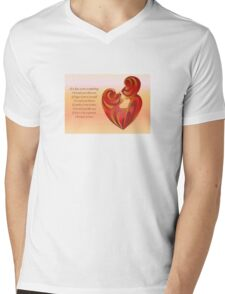 If A Kiss Were A Raindrop Greeting  Mens V-Neck T-Shirt