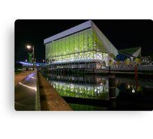 Aquatics Centre at Night Canvas Print