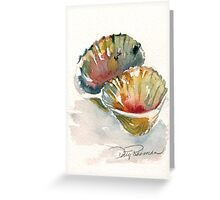 Shell painting art by Dotty Reiman Greeting Card