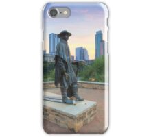 Stevie Ray Vaughan Statue in Austin Texas 1 iPhone Case/Skin