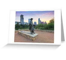Stevie Ray Vaughan Statue in Austin Texas 1 Greeting Card