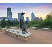 Stevie Ray Vaughan Statue in Austin Texas 1 Photographic Print