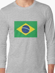 Brazil Flag Long Sleeve T-Shirt