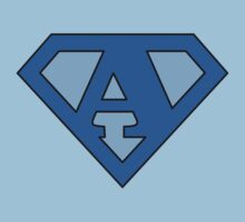 Super Blue A Logo by adamcampen