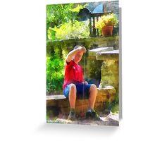 Boy With Yoyo Greeting Card