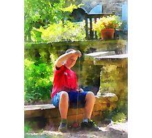 Boy With Yoyo Photographic Print
